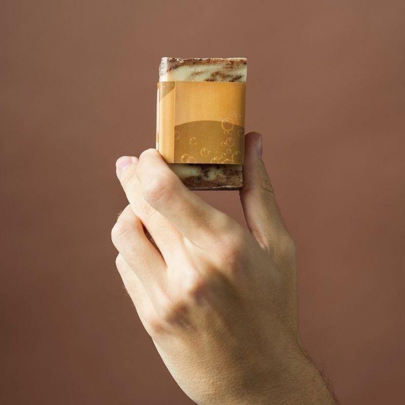 Jabón Natural de Horchata Chocolate de Aceite de Chufa Ecológica Món Orxata - Back