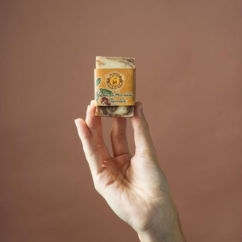 Jabón Natural de Horchata Chocolate de Aceite de Chufa Ecológica Món Orxata - Envase
