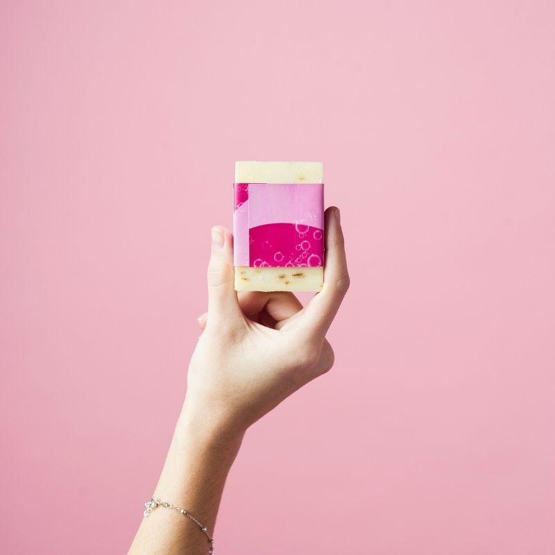 Jabón Natural de Horchata Rosa Mosqueta de Aceite de Chufa Ecológica Món Orxata - Back