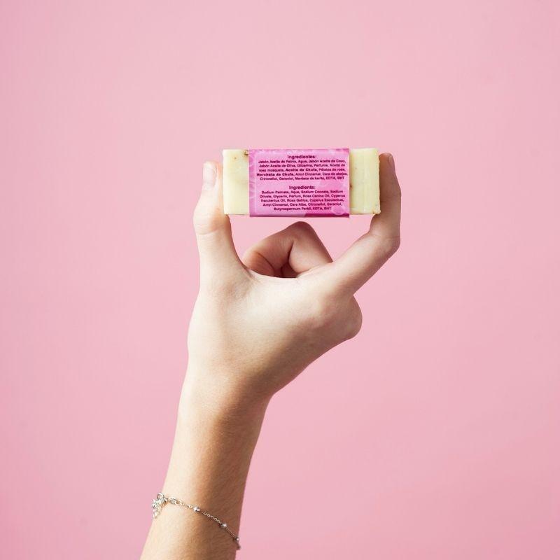 Jabón Natural de Horchata Rosa Mosqueta de Aceite de Chufa Ecológica Món Orxata - Ingredientes