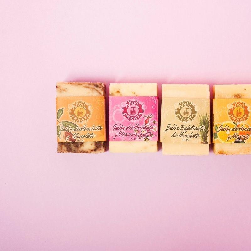 Jabón Natural de Horchata Rosa Mosqueta de Aceite de Chufa Ecológica Món Orxata - Detalle