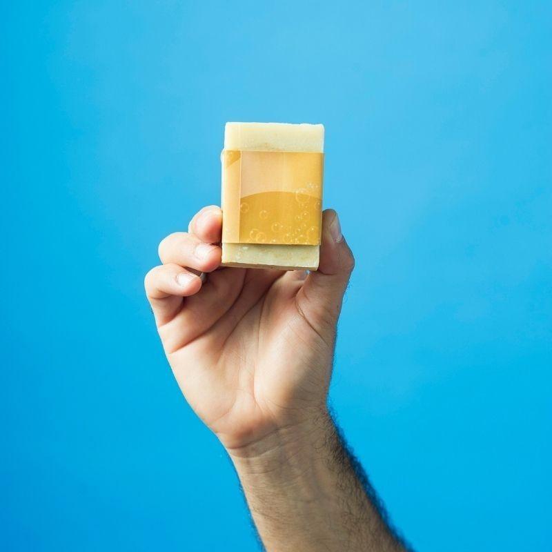 Jabón Natural de Horchata Naranja de Aceite de Chufa Ecológica Món Orxata - Back
