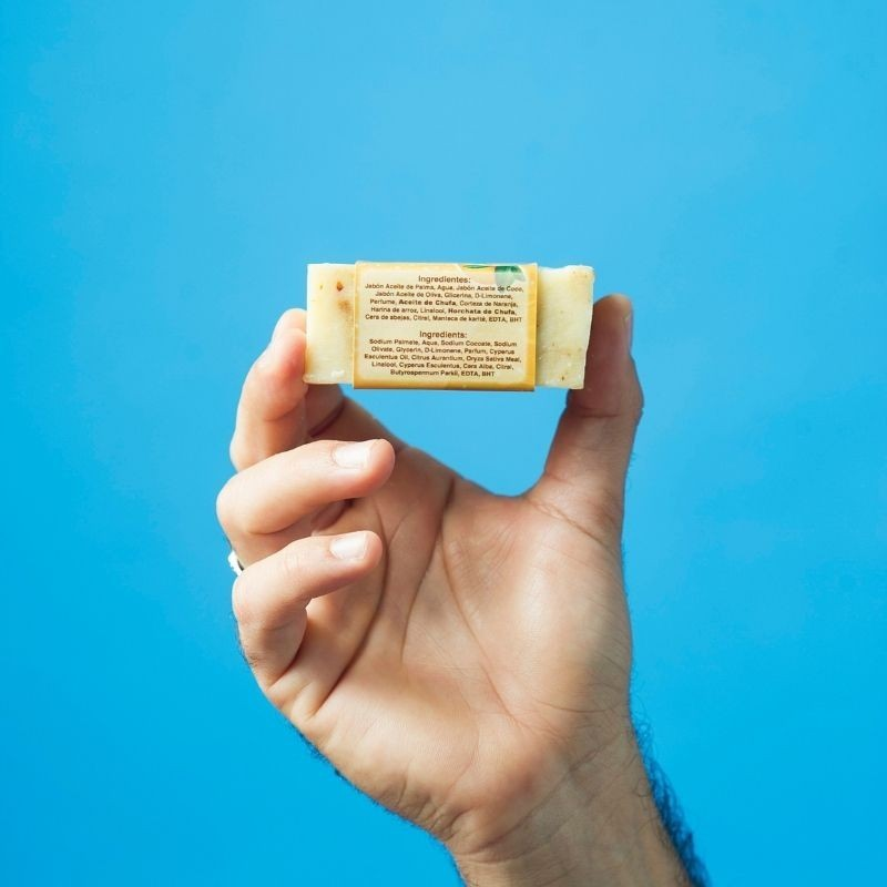 Jabón Natural de Horchata Naranja de Aceite de Chufa Ecológica Món Orxata - Ingredientes