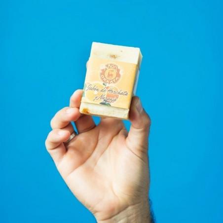 Jabón Natural de Horchata Naranja de Aceite de Chufa Ecológica Món Orxata - Envase