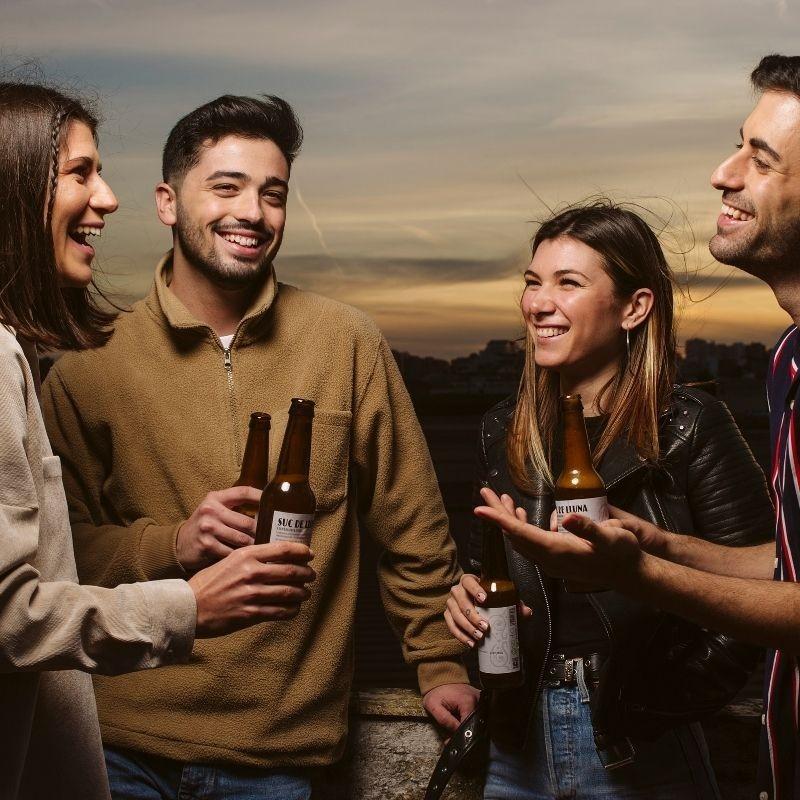 Botellín Cerveza Ecológica Valenciana Suc de Lluna - hablando