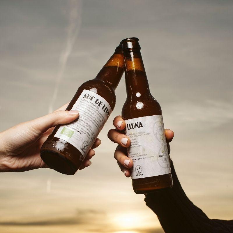 Pack 2 Cervezas Ecológicas Valencianas Suc de Lluna - brindis 2