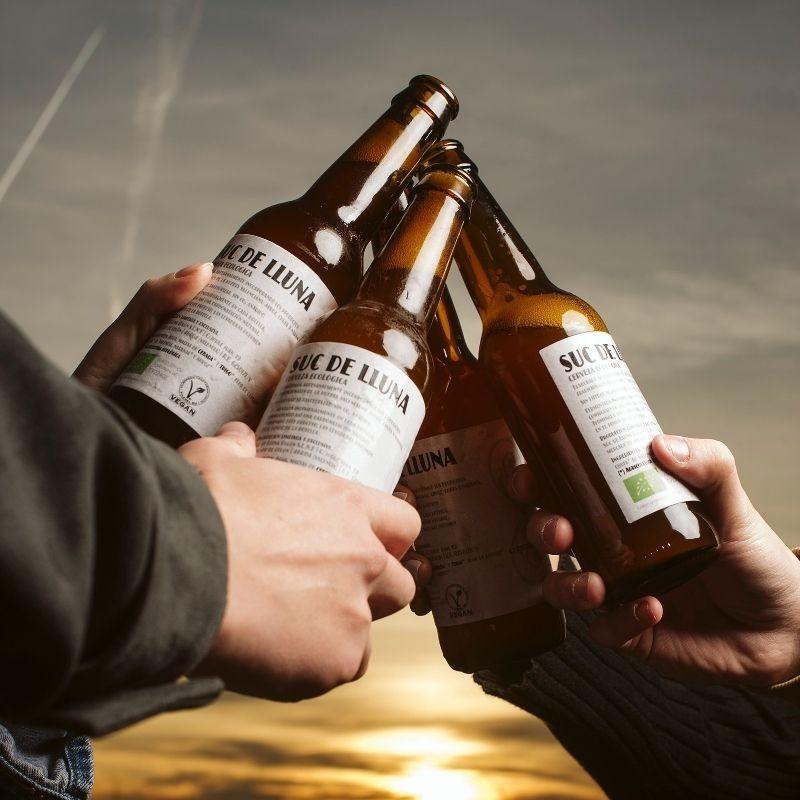 Pack 2 Cervezas Ecológicas Valencianas Suc de Lluna - brindis